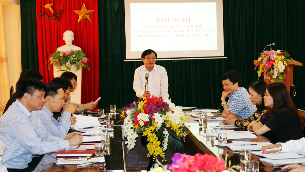 Báo Bắc Giang: Quan tâm phối hợp với các đơn vị, địa phương trong công tác tuyên truyền, phát hành báo
